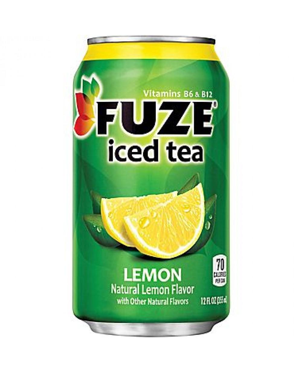 Fuze Lemon Iced Tea Can 12oz 355ml X 12