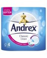 Andrex White Toilet Paper Classic Clean 4 Rolls x 6