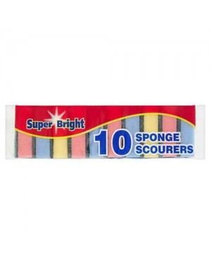 Super Bright Sponge Scourers 10's