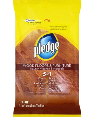 Pledge Floor Wipes 12s x 8