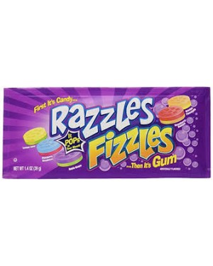 Concord Razzles Fizzles Assorted Candy/Gum 1.4oz (39g)