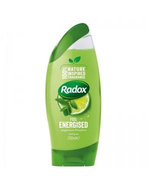 Radox Shower Gel Feel Energised (green) 250ml x 6
