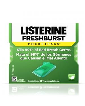 Listerine Freshburst Pocketpaks Breath Strips 24s x 12
