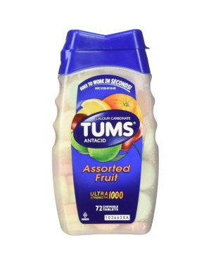 Tums Assorted Fruit Tablets 72s x 24