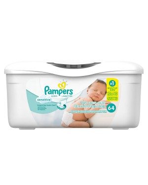Pampers Wipes Sensitive 64 pack x 8