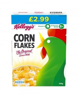 Kellogg's Corn Flakes PM £2.99 550g x 6