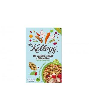 W.K. Kellogg No Added Sugar Granola Raspberry, Apple & Carrot 500g x 5