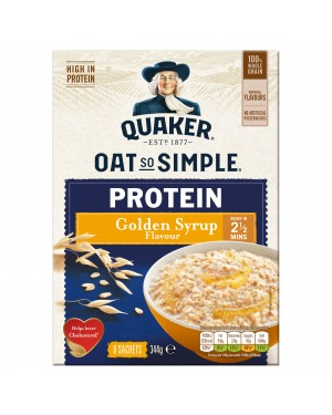 Quaker Oat So Simple Protein Golden Syrup 8 x 43g x 6