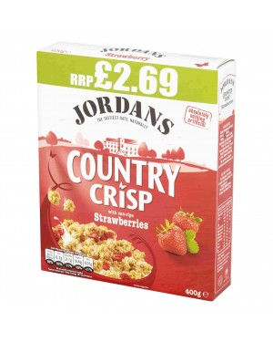 Jordans Country Crisp Strawberry 400g p.m.£2.69 x 6