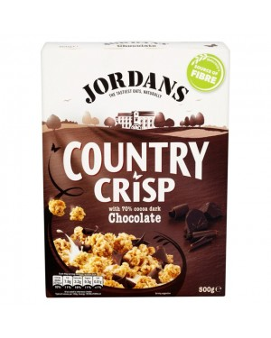 Jordans Country Crisp Dark Chocolate 500g x 6
