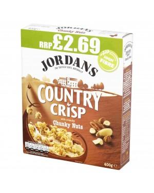 Jordans Country Crisp Chunky Nut 400g p.m.£2.69 x 6
