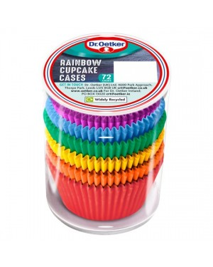 Dr. Oetker Rainbow Baking Cases 72s x 6