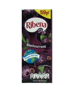 Ribena Blackcurrant Juice Drink PM 59p 250ml x 24