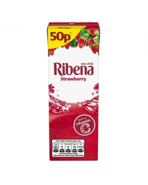 Ribena Strawberry Juice Drink PM 50p 250ml