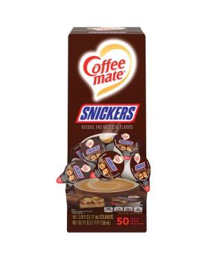 Nestle Coffee Mate Snickers Single Serve Liquid Creamer 0.375oz (11ml) 50s x 4