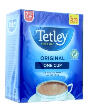 Tetley One Tea Bags 72'S PM £1.79 x 12