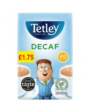 Tetley Tea Bags Decaf 40s PM £1.75 x 6