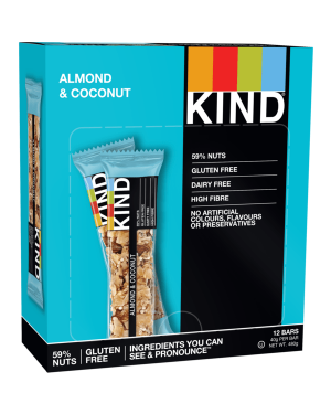 Kind Bars Almond & Coconut 40g x 12