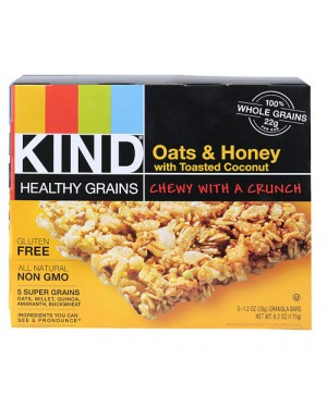 Kind Healthy Grains Oats & Honey with Toasted Coconut 1.2oz (35g) 5's x 8