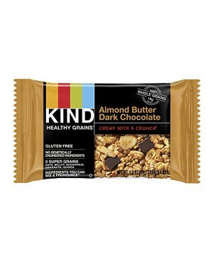 Kind Healthy Grains Almond Butter Dark Chocolate 1.2oz (35g) 5's x 8