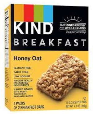 Kind Breakfast Honey Oat 1.8oz (50g) 8's (4x2) x 8