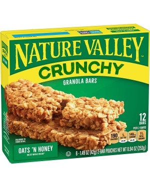 Nature Valley Oats N Honey 12's 8.94oz (253g) x 12