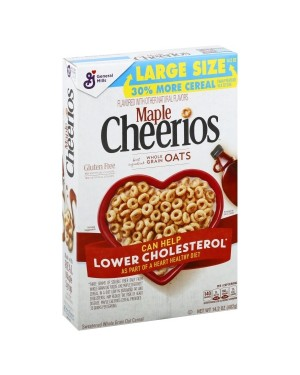 General Mills Cheerios Maple Cereal 14.2oz (402g) x 8
