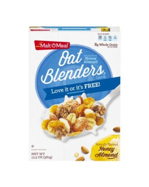 Malt O Meal Honey & Oat Blenders (13.5oz) 382g x 12