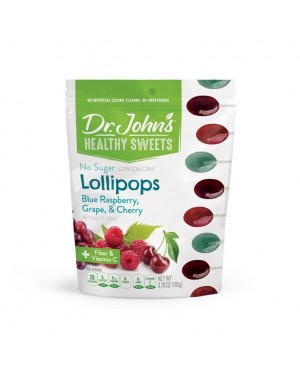 Dr. John's Healthy Sweets Sugar Free Assorted Lollipops 12's x 12