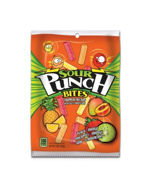 Sour Punch Bites Tropical 5oz (142g) x 12