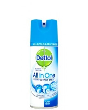 Dettol All In One Disinfectant Spray Linen 400ml x 6