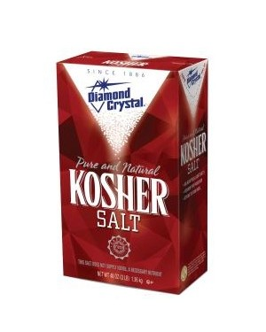 Diamond Crystal Kosher Salt 3lb (1.36kg) x 12