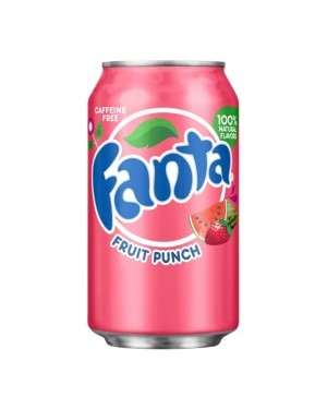 Fanta Fruit Punch Soda Can 12oz (355ml) x 12