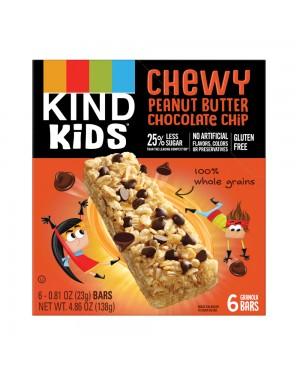Kind Kids Bar Peanut Butter Chocolate Chip 6's 4.86oz (138g) x 8