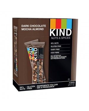 Kind Bars Dark Chocolate Mocha Almond 40g x 12