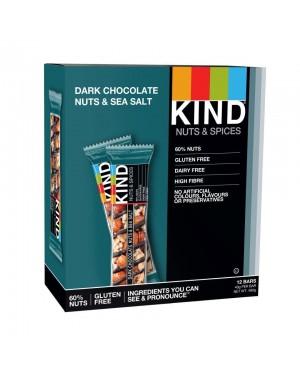 Kind Bars Dark Chocolate Nuts & Sea Salt 40g x 12