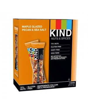 Kind Bars Maple Glazed Pecan & Sea Salt 40g x 12