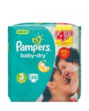 Pampers Size 3 PM £4.99 30s x 4