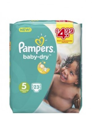 Pampers Size 5 PM £4.99 23's x 4