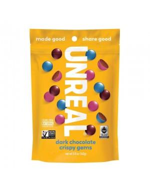 Unreal Candy Dark Chocolate Crispy Gems Bag 5oz (142g) x 6