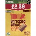 Nestle Shredded wheat 16s p.m.£2.39 x 5