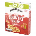 Jordans Country Crisp Strawberry 400g p.m.£2.69 x 6