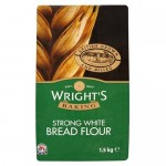 Wrights Strong White Bread Flour 1.5Kg x 5