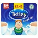 Tetley Tea Bags PM £2.65 80's  x 6