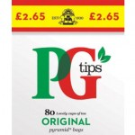 PG Tips Pyramid Teabags 80s p.m.£2.65 x 6
