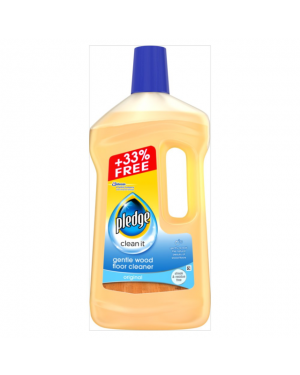 Pledge Gentle Wood Floor Cleaner 750ml +33% extra x 6