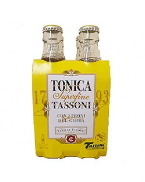 Tonica Superfine Tassoni Lemon 180ml 4 Pack x 6