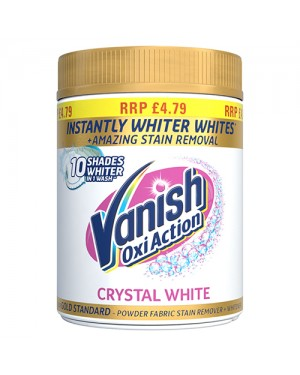 Vanish Stain Remover Powder Fabric Whitener Crystal White PM £4.79 x 6