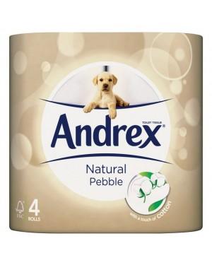 Andrex Toilet Paper Natural Pebble 4 Rolls x 6