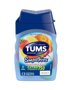 Tums Extra Strength Assorted Fruit Tablets 12s x 9